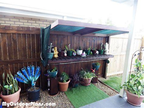 diy garden work bench myoutdoorplans  woodworking