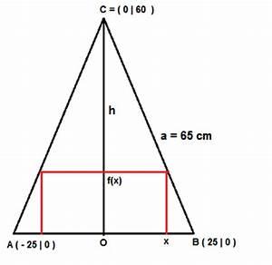 Höhe Gleichschenkliges Dreieck Berechnen : einem gleichschenkliges dreieck einbeschriebenes rechteck mit gr tem fl cheninhalt mathelounge ~ Themetempest.com Abrechnung