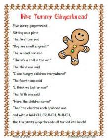 Five Yummy Gingerbread Poem