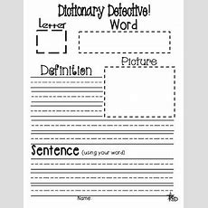 Dictionary Detective (differentiated Literacy Station Activity) Tpt