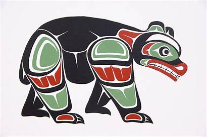Bear Native American Indian Tattoo Haida Coast