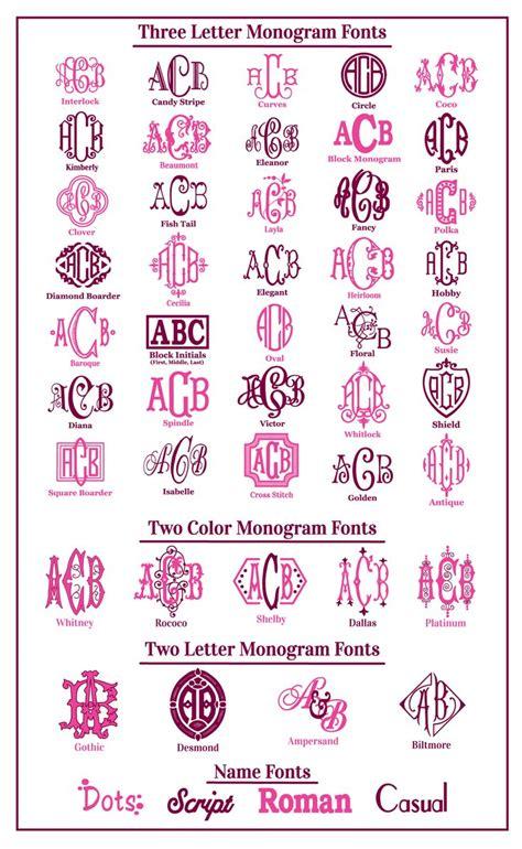 monogram font choices  monogram fonts cricut monogram monogram fonts