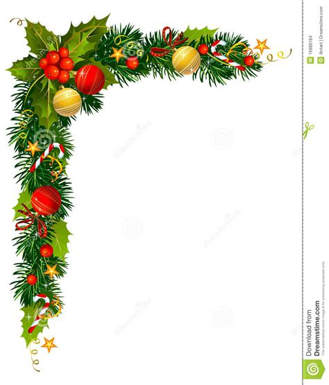 christmas holly branch   corner stock images image