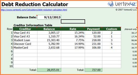 debt spreadsheet excel spreadsheets group
