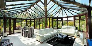 Large Bespoke Conservatory Witgh Glass Roof