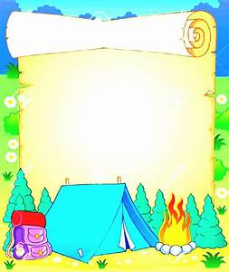 Camping Background Clipart Pencil And In Color PLAATJES