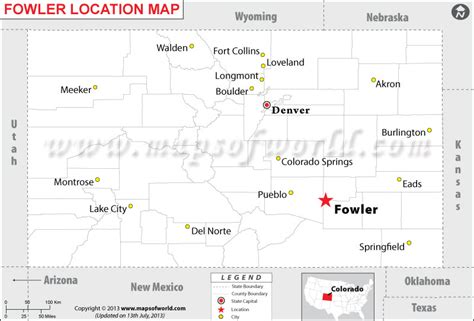 fowler located  colorado usa
