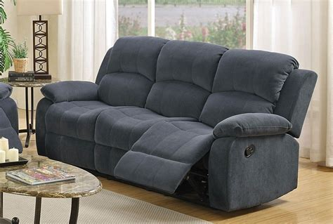 Blue Grey Sofa by Blue Reclining Sofa Vercelli Aqua Leather Reclining Sofa