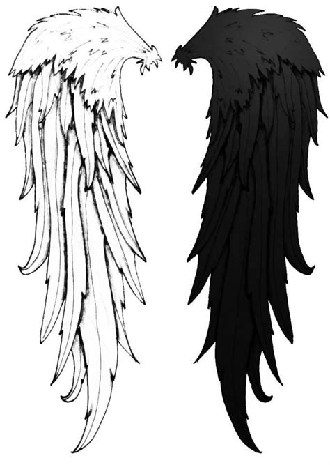 cool cool angel wings black and white tattoo idea cute | Wings tattoo, Wings drawing, Black