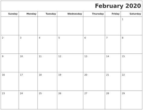 february calendars print