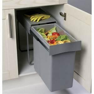 Meuble Poubelle Cuisine : cubo basura extraible gran capacidad 28 litros cocinas ~ Dallasstarsshop.com Idées de Décoration