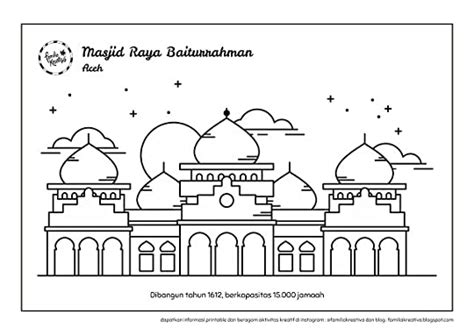 contoh gambar mewarnai tema ramadhan