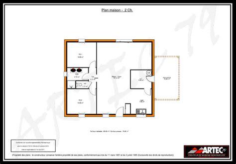 plan maison plain pied 2 chambres gratuit plan maison 2 chambres gratuit