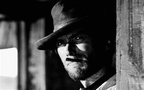 Hd Black Photo by Clint Eastwood Cowboy Actor Cigarette Black And White