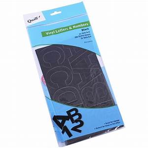 quill poster board vinyl stickers black 100 pack officeworks With outdoor letter stickers