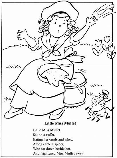 Coloring Muffet Miss Pages Rhymes Jill Jack