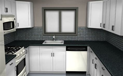 white and black kitchen designs cocinas peque 241 as en forma de u 38 dise 241 os fant 225 sticos 9204