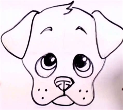easy  draw  cute puppie drawing pinterest drawings