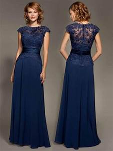 elegant navy blue long evening dress 2016 simple appliques With long formal wedding guest dresses