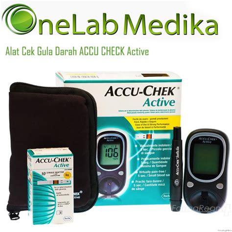 Accu Check Alat Monitor Gula Darah cek gula darah accu check active onelab medika