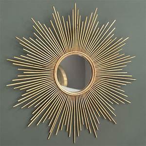 miroir en metal dore h 99 cm magellan maisons du monde With tapis jonc de mer avec canapé payer en 4 fois