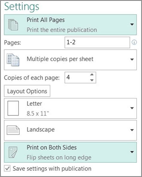 print two sided postcards in publisher publisher
