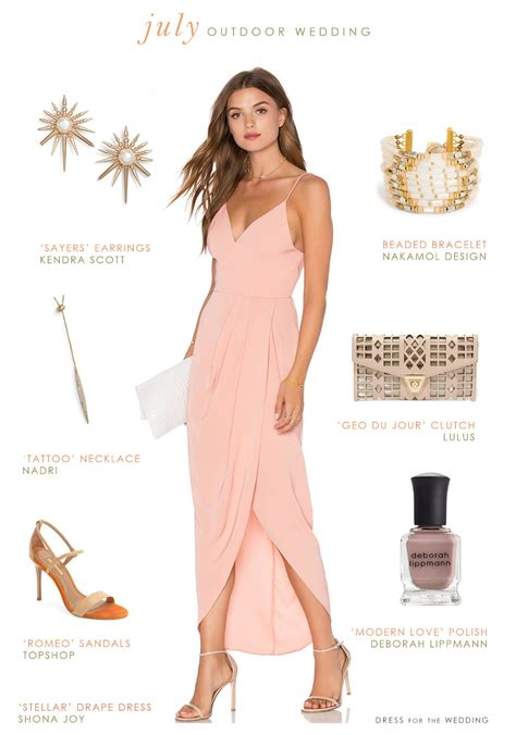 what to wear to an outdoor july wedding wedding guest