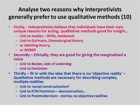 outline  explain  reasons  interpretivists prefer   qualitative research methods