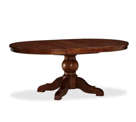 pottery barn kirkwood dining table sumner extending pedestal dining table rustic mahogany