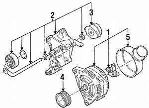 Volkswagen Passat Alternator Mount Bracket  2 0 Liter  W  O Ac  Electrical  Telematics