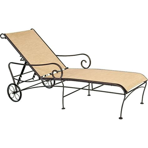 woodard 750070 terrace sling adjustable chaise lounge