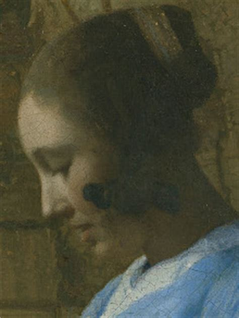 in blue reading a letter in blue reading a letter by johannes vermeer 25664