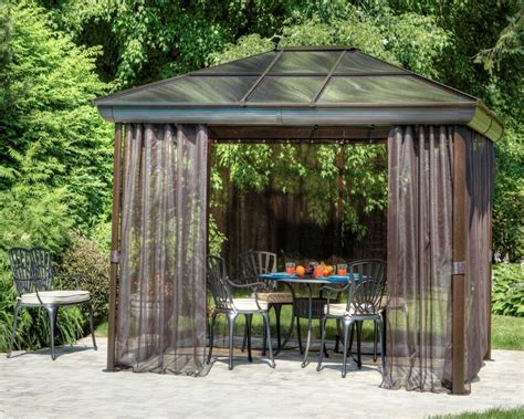 backyard gazebo outdoor hardtop gazebo garden metal roof canopies and