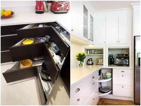 storage ideas for kitchens clever storage ideas for corner kitchen cabinets