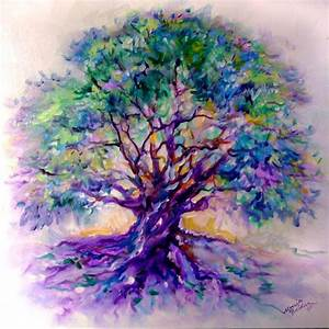 """""""TREE OF LIFE~PurpleRain"""" - by Marcia Baldwin from Abstracts"""