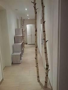 Garderobe Aus Birkenstämmen : unsere birkenst mme dekorativ im flur aufgestellt interior pinterest birke birkenstamm ~ Yasmunasinghe.com Haus und Dekorationen