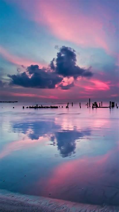 Sunset Clouds Ocean Landscape Travel Sea Sky