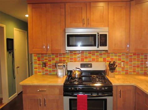 retro mosaic backsplash modern kitchen  york