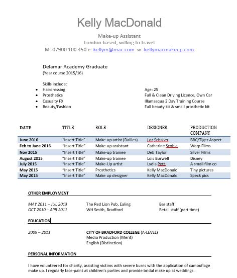 Different Cv Templates by 5 Different Cv Styles 1 Thecallsheet Co Uk