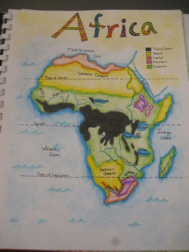 waldorf  grade geography map  africa age