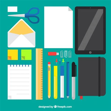 Office Supplies Vector by Variety Of Office Supplies Vector Free