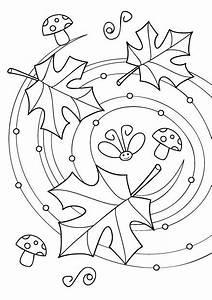 Feuilles D Automne à Imprimer : dessin feuille d automne coloriage ~ Nature-et-papiers.com Idées de Décoration