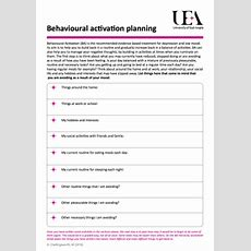 Managing Your Mood Ba Selfhelp Materials And Worksheets Uea