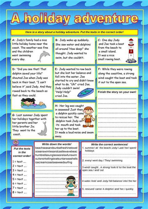holiday adventure key worksheet  esl printable