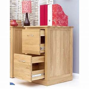 Mobel Two Drawer Filing Cabinet Storage Solid Oak Office