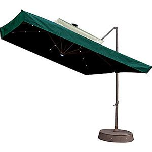 patio umbrella w netting and solar lights green shop solar
