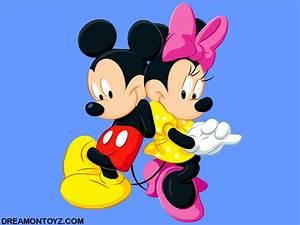 Micky Maus Und Minnie Maus : cartoon wallpaper of mickey mouse with minnie mouse on blue background sue pinterest ~ Orissabook.com Haus und Dekorationen