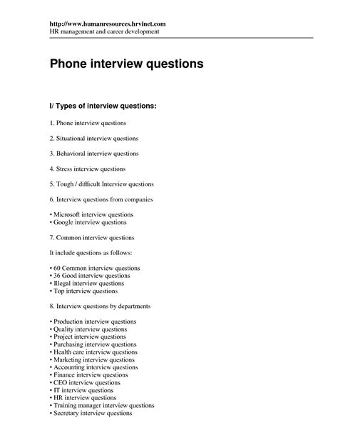 phone questions and answers best photos of template of questions sle how