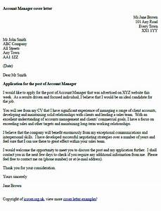 Account manager cover letter example icoverorguk for What to include in a cover letter uk