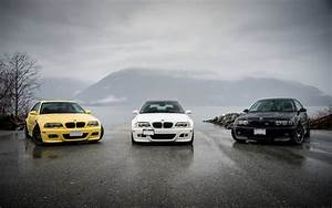 BMW M3 E46 yellow black white cars 4k Wide Screen